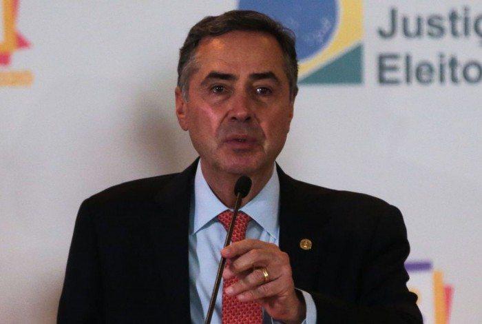 O presidente do TSE, Luís Roberto Barroso