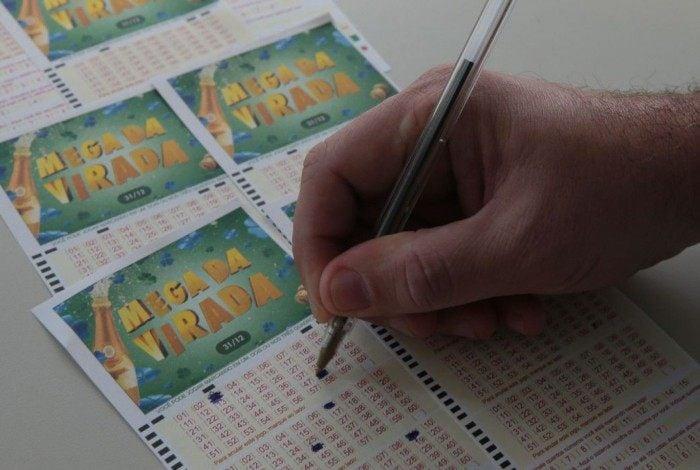 O bilhete simples da Mega-Sena, com seis dezenas, custa R$ 4,50