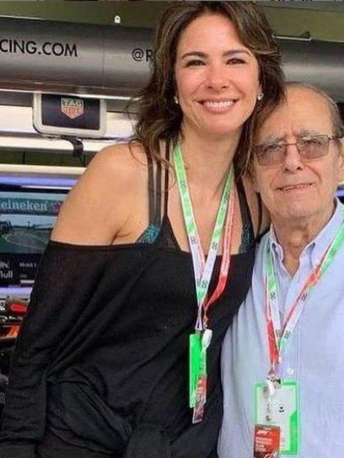 Luciana Gimenez e o pai