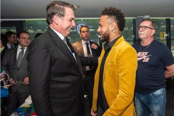 Jair Bolsonaro e Neymar