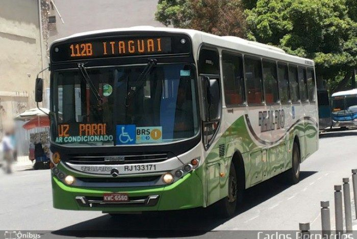 A linha 112B, que não circula mais aos domingos: passageiros têm que buscar alternativas para se deslocar ao Rio de Janeiro nesse dia
