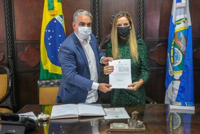 Adriana Balthazar, deputada do Novo, tomou posse na Alerj