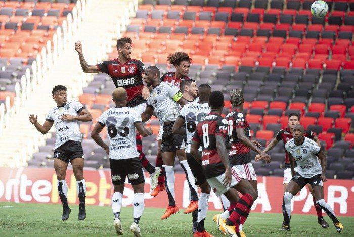 Partida entre Flamengo e Ceará com ausência de público no Maracanã