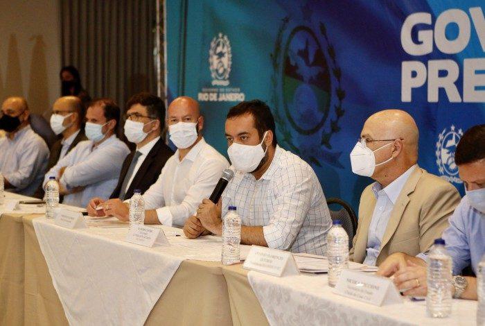 Reunião de prefeitos da Região Serrana com o governador Cláudio Castro em Teresópolis