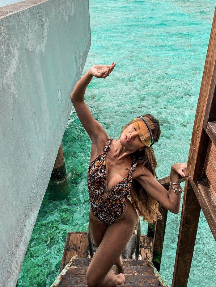 Natacha Horana curte as férias nas Ilhas Maldivas