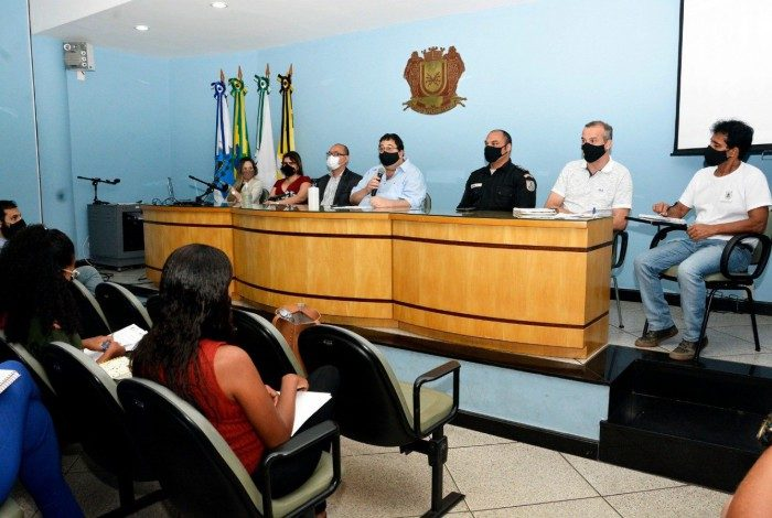 Reunião no auditório da prefeitura de Volta Redonda discute ampliação do Serviço de Abordagem Social