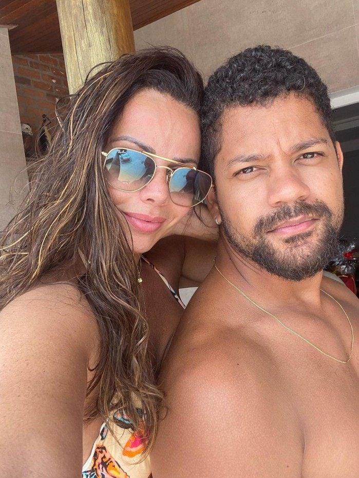 Viviane Araújo e Guilherme