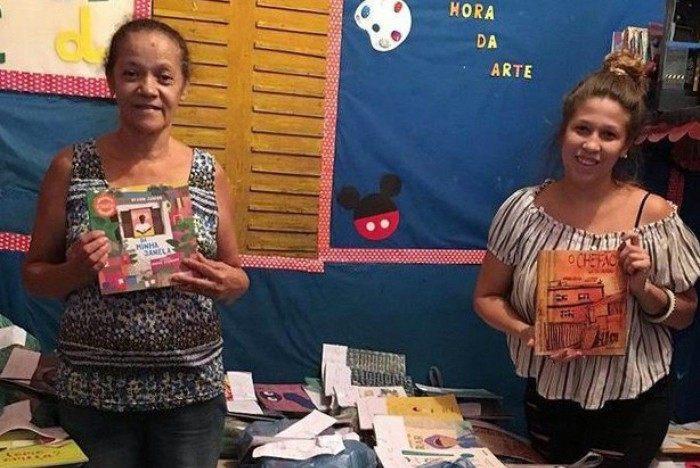 Carolina e a mãe mantêm a creche Recreação Infantil Estrelinha