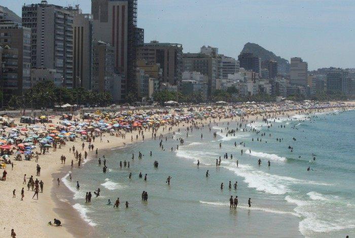 Praia do Leblon, na Zona Sul do Rio