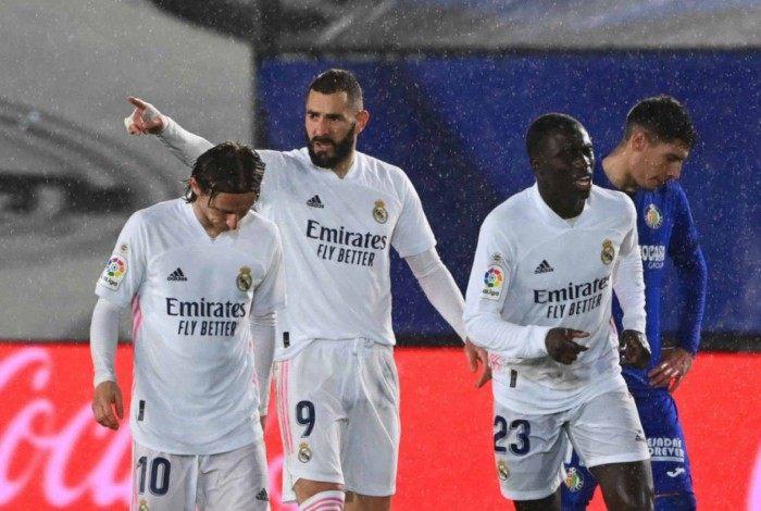 Benzema marcou na vitória do Real Madrid sobre o Getafe