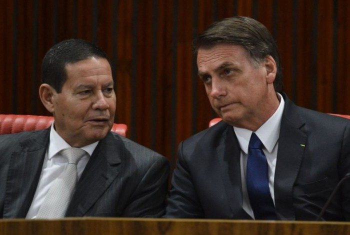 Vice-presidente Hamilton Mourão e presidente Jair Bolsonaro