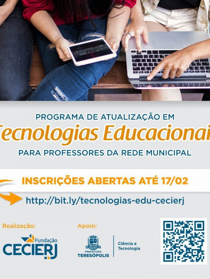 Programa de atualização em tecnologias educacionais propõe 6 disciplinas