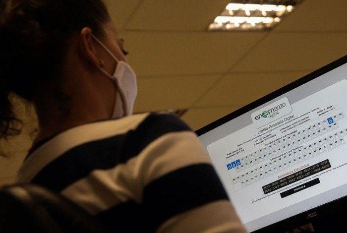 As provas da versão digital do exame foram aplicadas nos dias 31 de janeiro e 7 de fevereiro