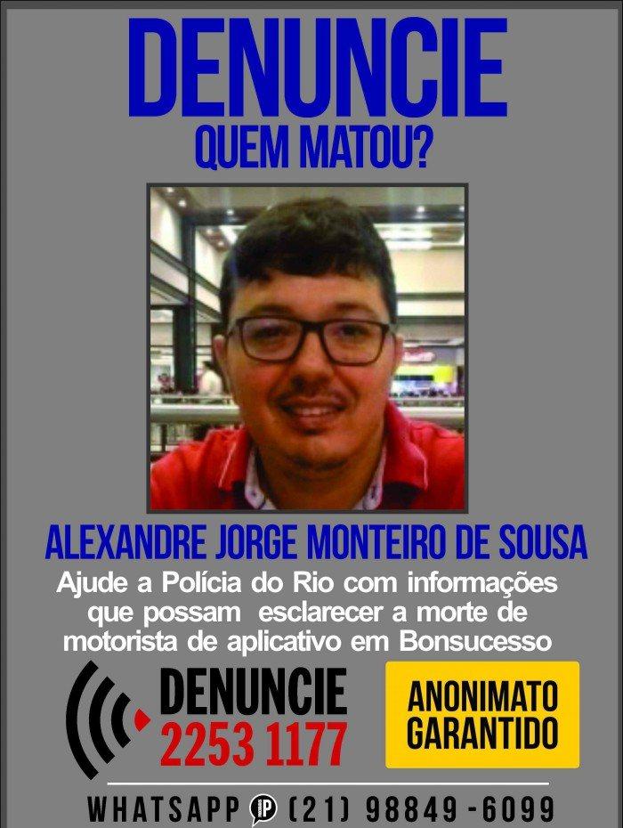 Portal dos Procurados pede informações sobre envolvidos na morte de motorista de aplicativo em Bonsucesso
