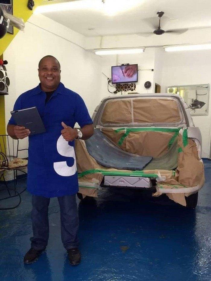 José Ricardo se especializou em lanternagem e pintura para ficar à frente do negócio