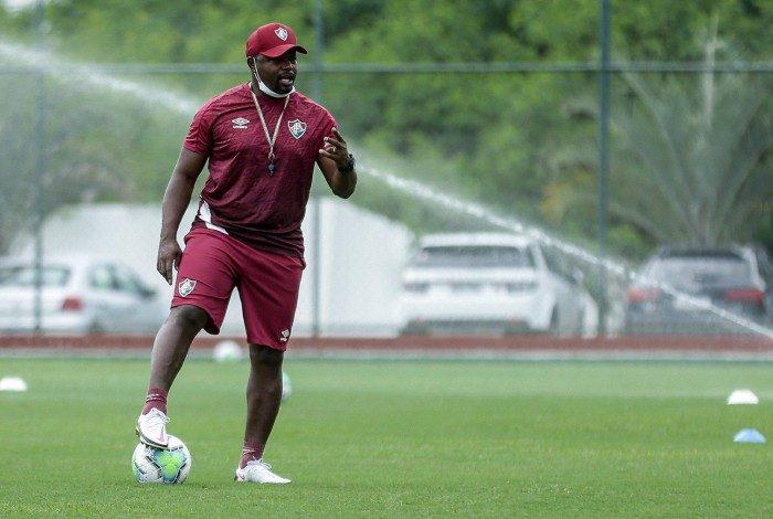 Marcão no treino do Fluminense