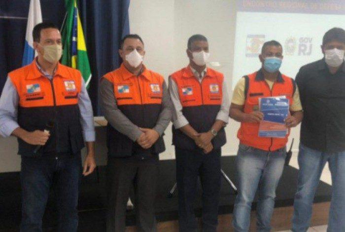 Secretário Municipal de Ordem Pública de Porto Real, Jorge Porto e o Diretor de Defesa Civil, Bruno Souza, participaram do evento