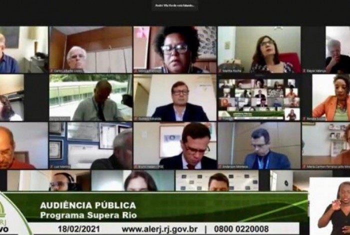 O Programa Supera Rio foi discutido em audiência pública nesta quinta-feira