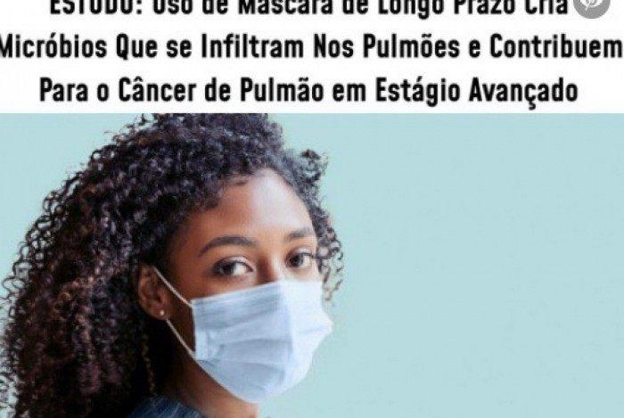 Estudo americano não afirma que o uso de máscara causa câncer de pulmão