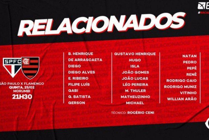 Relacionados para Flamengo e São Paulo