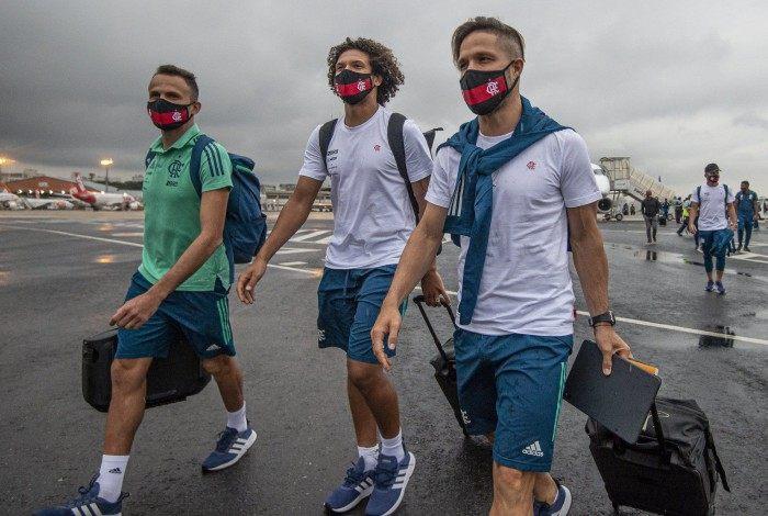 Flamengo desembarcou nesta quarta-feira em São Paulo