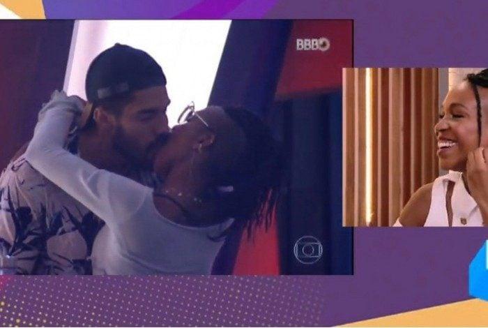 Karol Conká revê seu beijo com Arcrebiano e admite que teve ciúme de Carla Diaz