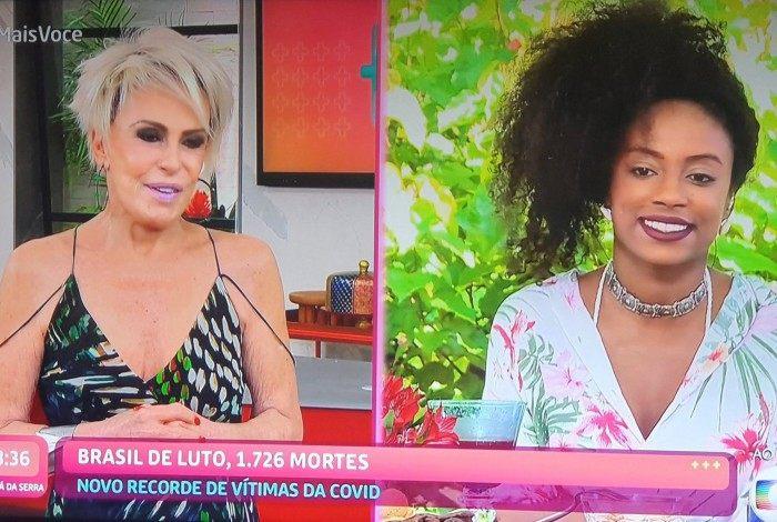 Ana Maria Braga conversa com Lumena no 'Mais Você'