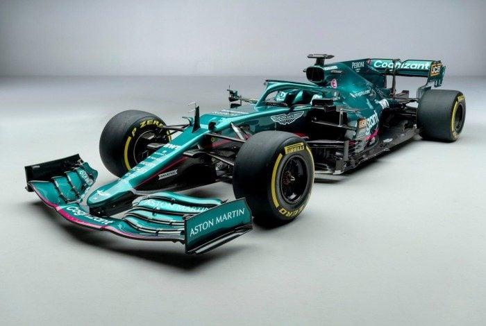 Modelo AMR21 da Aston Martin para a temporada 2021 de Fórmula 1