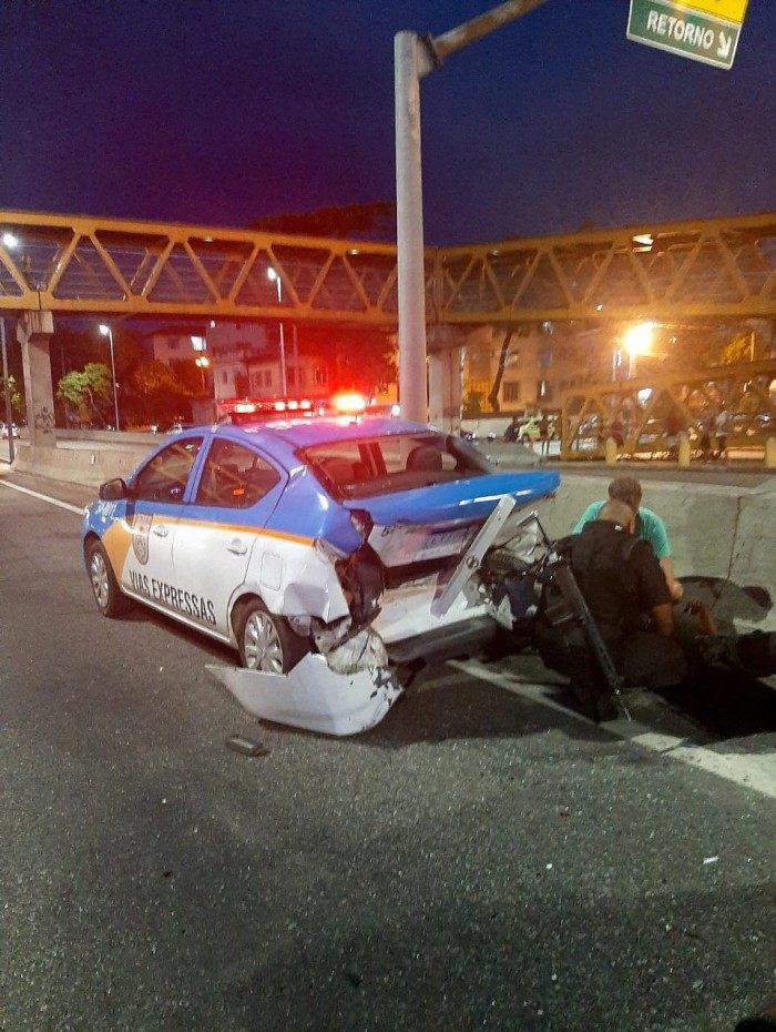 Motorista atropela PM na Linha Amarela