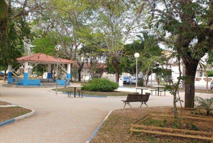 Praça da Matriz em Quatis