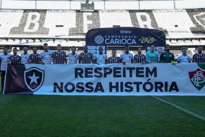 Botafogo e Fluminense em união contra retorno do futebol em 2020