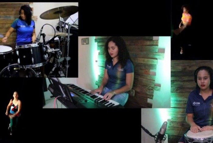Música é uma das artes abordadas pelos educandos que participam das atividades do projeto; banda formada em Itaguaí já se apresentou até em SP