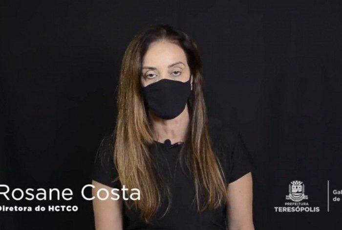 Rosane Costa, diretora do Hospital das Clínicas de Teresópolis Constantino Ottaviano (HCTCO)