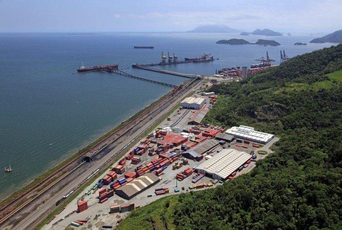 Visão área do Porto de Itaguaí: ano foi bom, com grande volume de movimentação