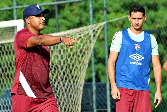 Roger Machado em seu primeiro treino no Fluminense e ganso - 02/03/2021