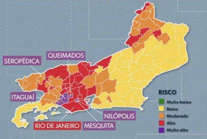 O mapa da Covid-19 no Rio de Janeiro