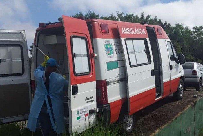 Secretaria Municipal de Saúde realiza a higienização diária da ambulâncias