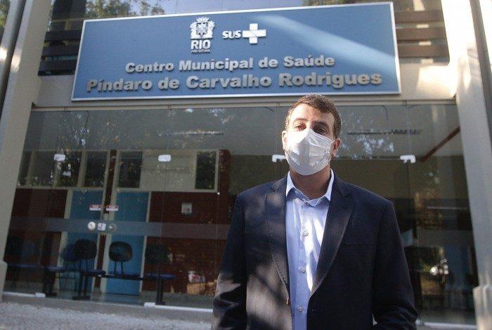 Geral -Secretario Municipal de Saude, Daniel Soranz, recebe a imprensa no Centro Municipal de Saude, Pindaro de Carvalho Rodrigues, na Gavea, zona sul do Rio.