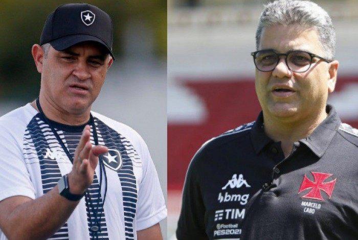 Marcelo Chamusca e Marcelo Cabo: desafios à frente de Botafogo e Vasco