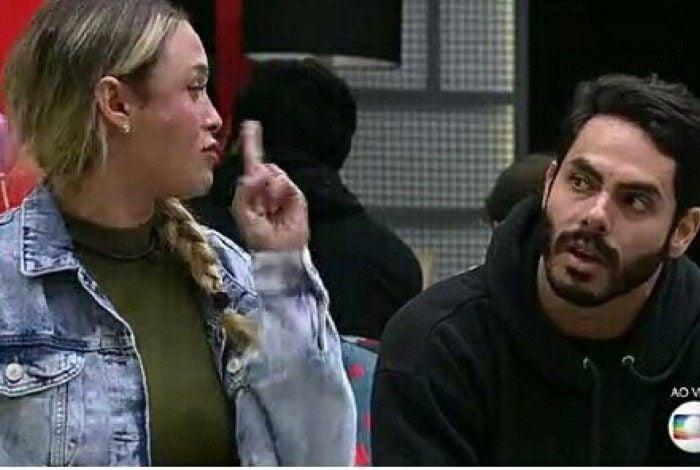 Sarah ficou indignada com o voto de Rodolffo e bateu boca com o ex-amigo ao vivo. 'Espero do fundo do meu coração que você saia', disse a sister.