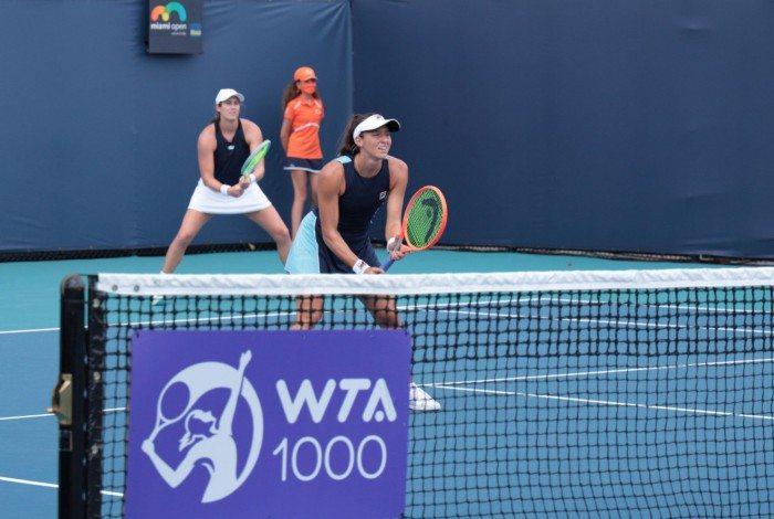 Ao lado da americana Hayley Carter, Luisa avançou para as quartas de final da WTA 1000 de Miami