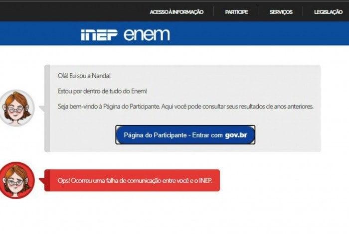 Site do ENEM apresenta instabilidade