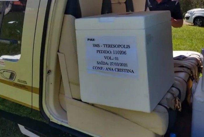 Doses da vacina CoronaVac recebidas por Teresópolis neste final de semana