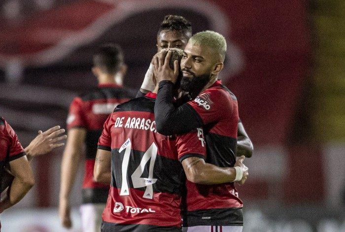 Gabigol, Arrascaerta e Bruno Henrique, o trio artilheiro do Flamengo