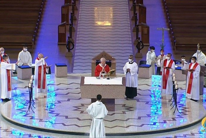 Missa de Ramos, da TV Aparecida