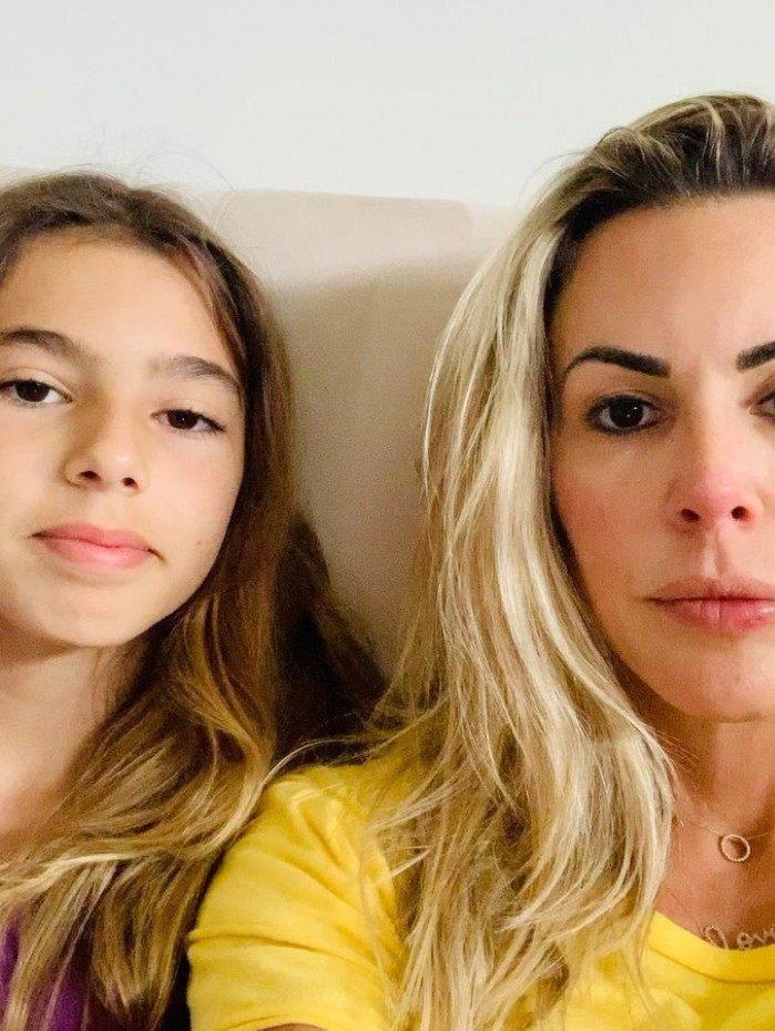 Joana Prado e a filha