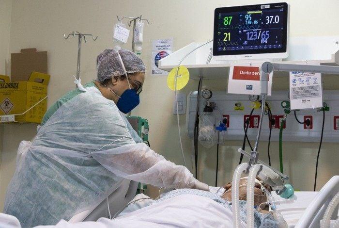 UTI para tratamento de Covid-19  no Hospital Ronaldo Gazolla, em Acari, Rio de Janeiro. Pacientes entubados na unidade de terapia intensiva do hospital municipal.