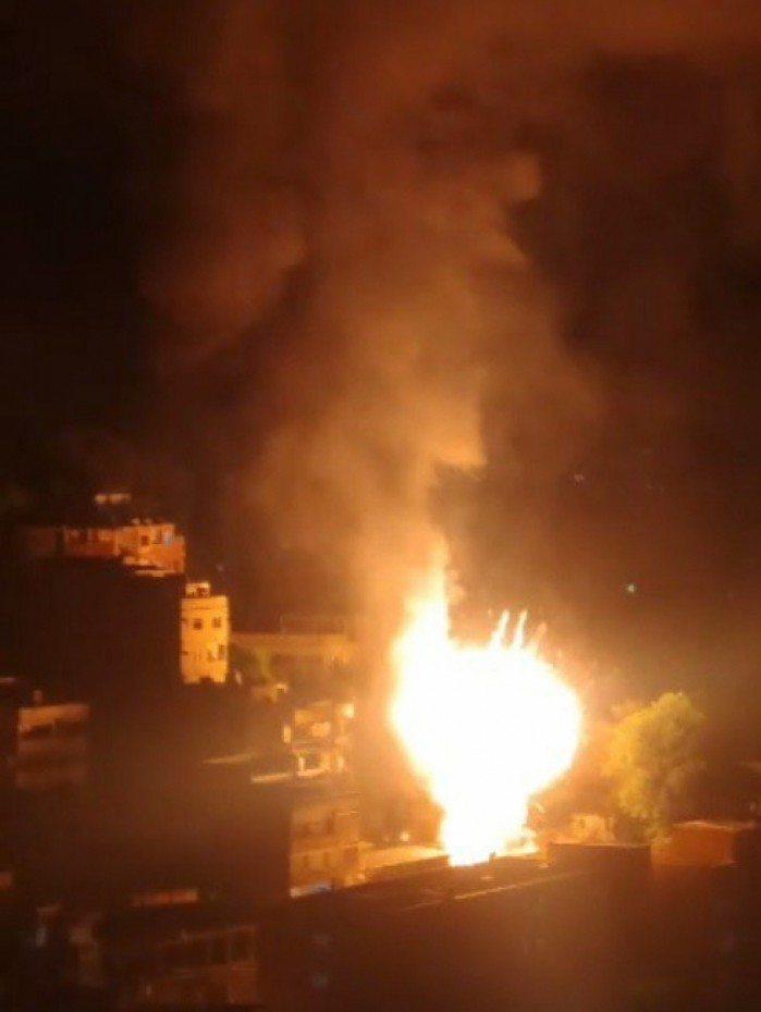 Incêndio começou após uma explosão no gerador de luz