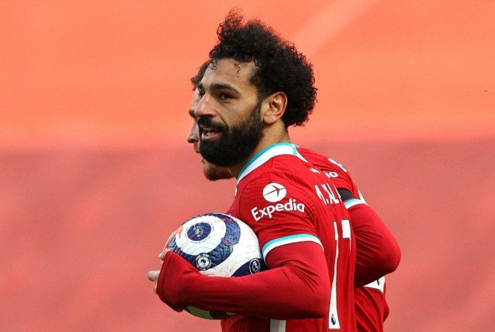 Salah comemora seu gol pelo Liverpool