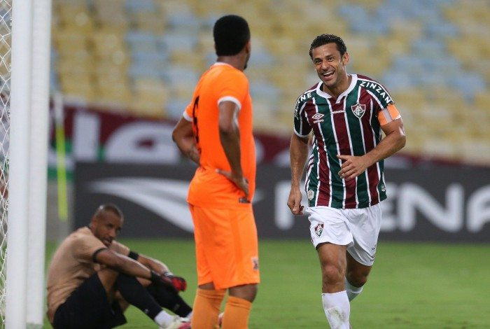 Fred comemorou o gol de número 400 na carreira: 182 deles foram com a camisa do Fluminense
